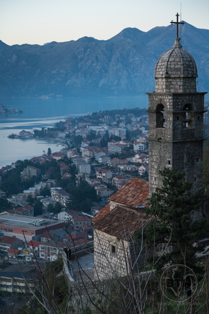 A chapel at the Kotor fortress ruins in Montenegro