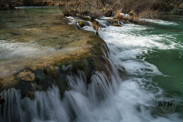 A waterfall in Plitvice Lakes National Park, Croatia
