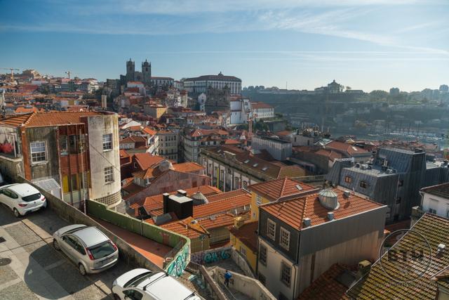 A hilltop view of Porto, Portugal