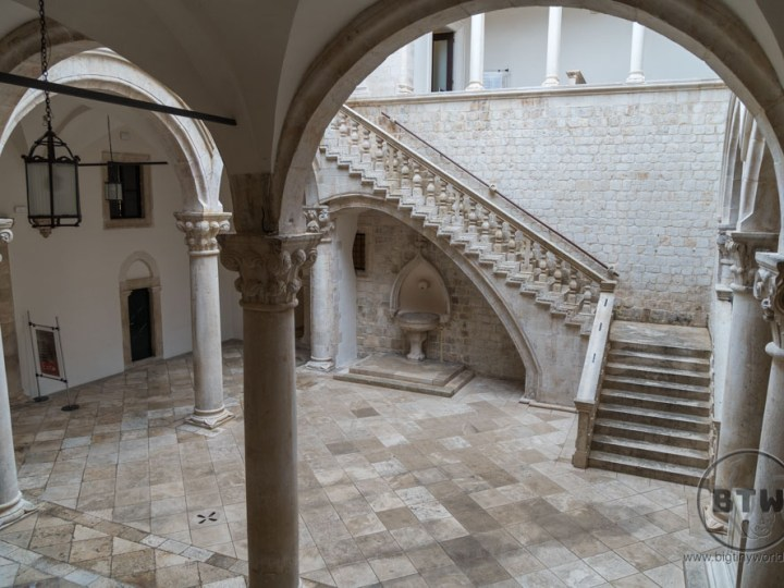 The courtyard of the Rector's Palace in Dubrovnik, Croatia