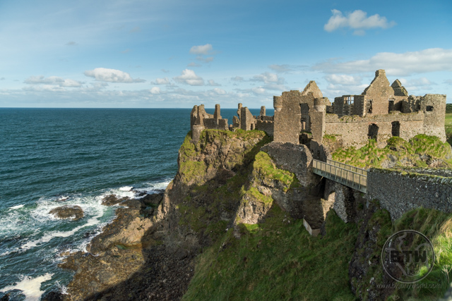 The ruins of Dunluce Castle in Northern Ireland