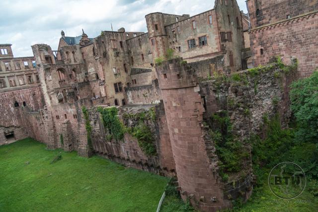 The Heidelberg Castle ruins in Germany