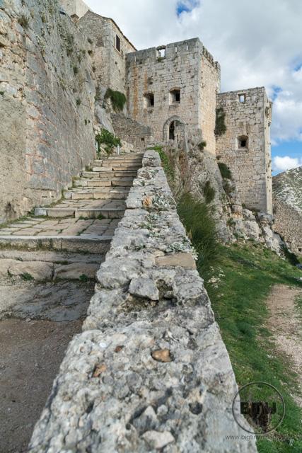 Stairs at Kils Fortress near Split, Croatia