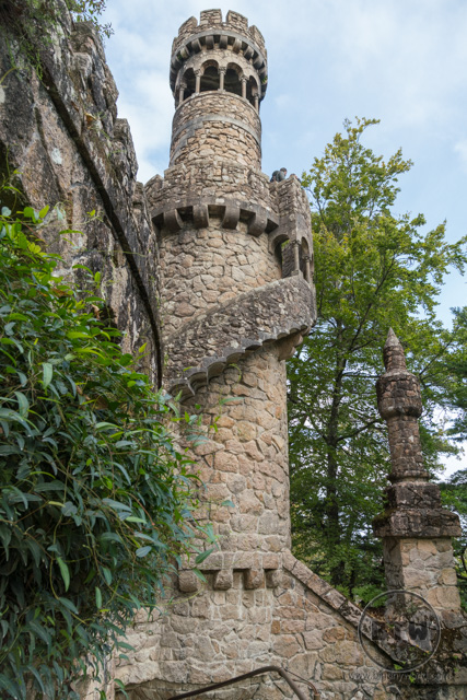 A tower at the Quinta da Regaleira in Sintra, Portugal