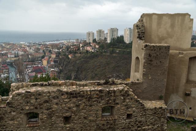 The view from Trsat Castle in Rijeka, Croatia