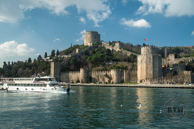 Rumeli Hisari fortress in Istanbul, Turkey, as viewed from the Bosphorus