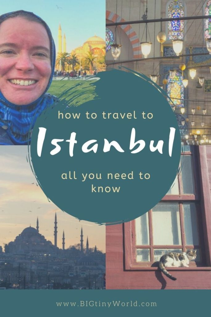 How to Travel to Istanbul: All You Need to Know | Traveling to Istanbul for the first time may be daunting to plan. Finding your way around, or even knowing if you can drink the water might be difficult to figure out. We've got you covered with all you need to know to travel to Istanbul. | BIG tiny World Travel | #bigtinyworld #IstanbulTravel #TurkishFood #IstanbulSafety #TravelGuide