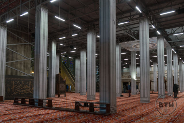 Inside Blue Mosque Renovation