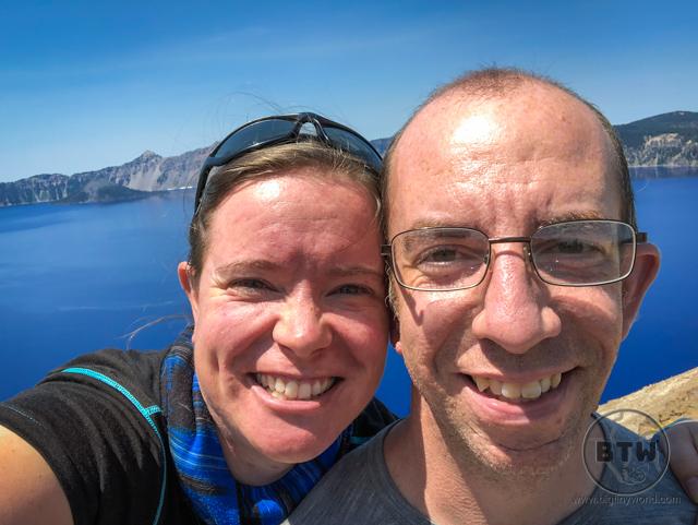 Aaron and Brianna at Crater Lake, Oregon