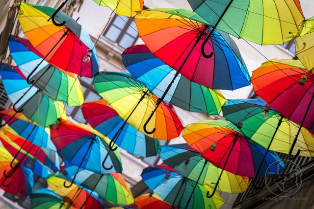 Umbrella Street Karakoy Istanbul