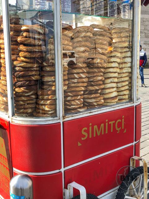Simit Stand Istanbul Turkish Food