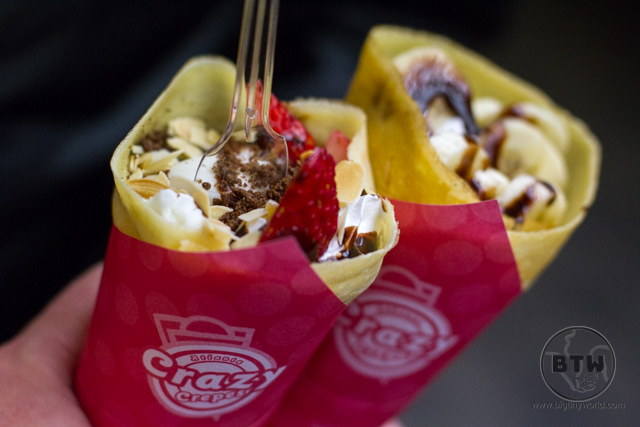 Two ice cream crepes in Tokyo, Japan