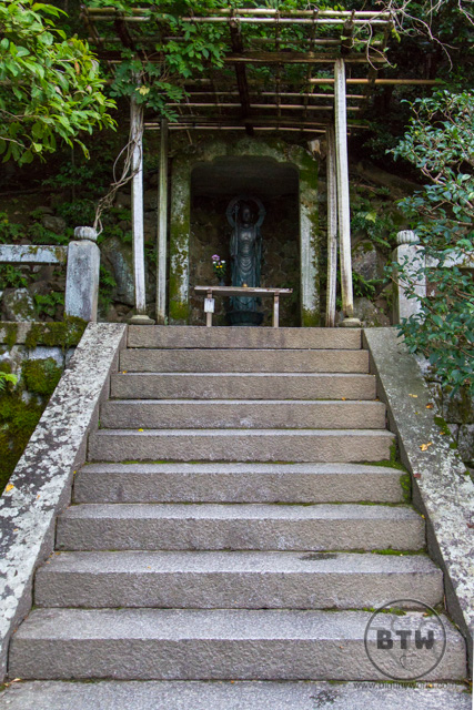Stairs to a shrine in Kyoto, Japan