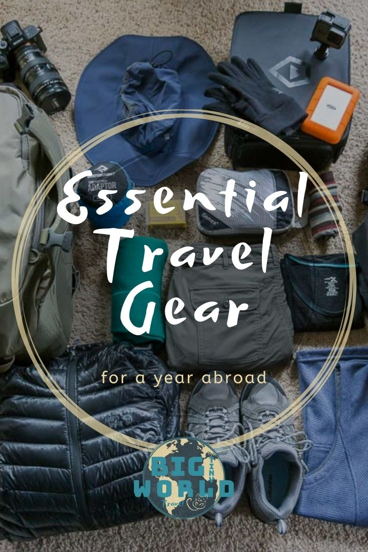 Packing for long-term travel is different from that for a short vacation. Click to read the essential carry-on-only gear we pack and lived on for 9 months! | BIG tiny World Travel | #bigtinyworld #travelgear #packlist #packing #longtermtravel #traveltips