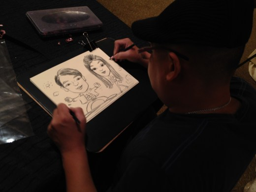 2 hands caricature