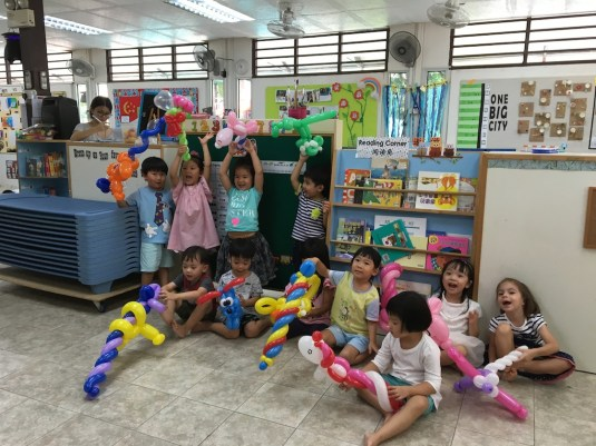 Balloon Sculpting at Child Care Centre