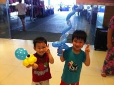 Balloon Sculpting at Shopping Mall