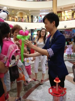 Balloon Sculpting at shopping centre