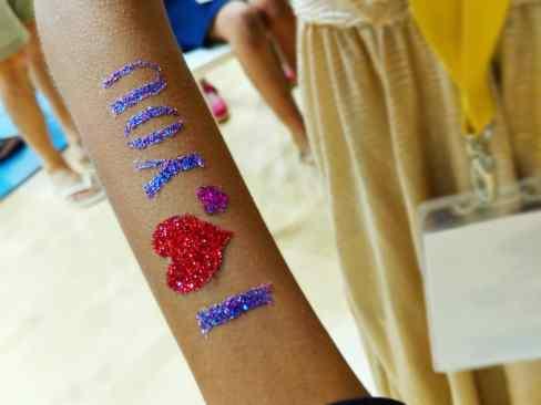 Glitter Tattoo on Hand