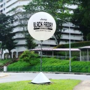Outdoor Lighted Giant Balloon