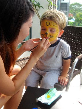 Painting on Face in Singapore