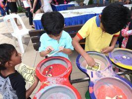 Sand Art Station Fringe Activity