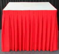Square Table with Skirting for Rent Singapore