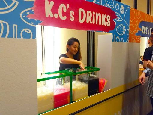 Traditional Grass Jelly Drink Stall