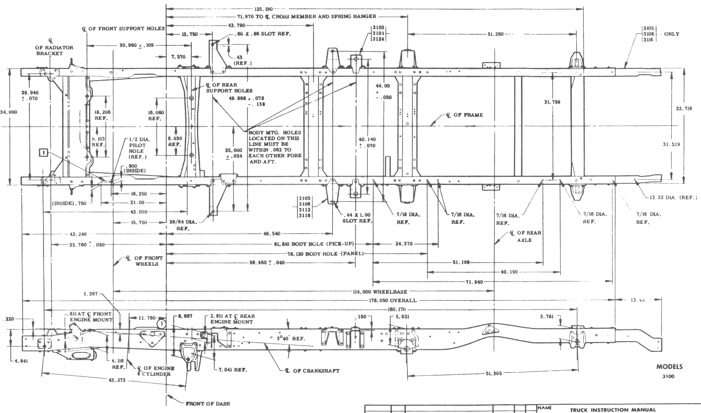1966 chevy truck frame diagram
