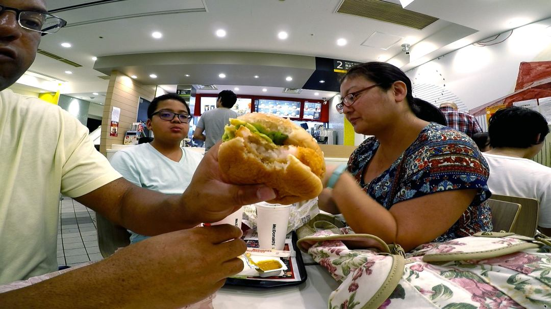 Eating Food In Japan - Japanese McDonalds Shrimp Burger Ebi Filet-O