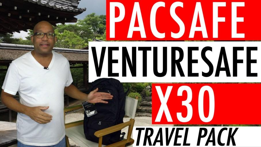 Pacsafe Venturesafe X30 Travel Pack - Black Pacsafe Anti Theft Backpack
