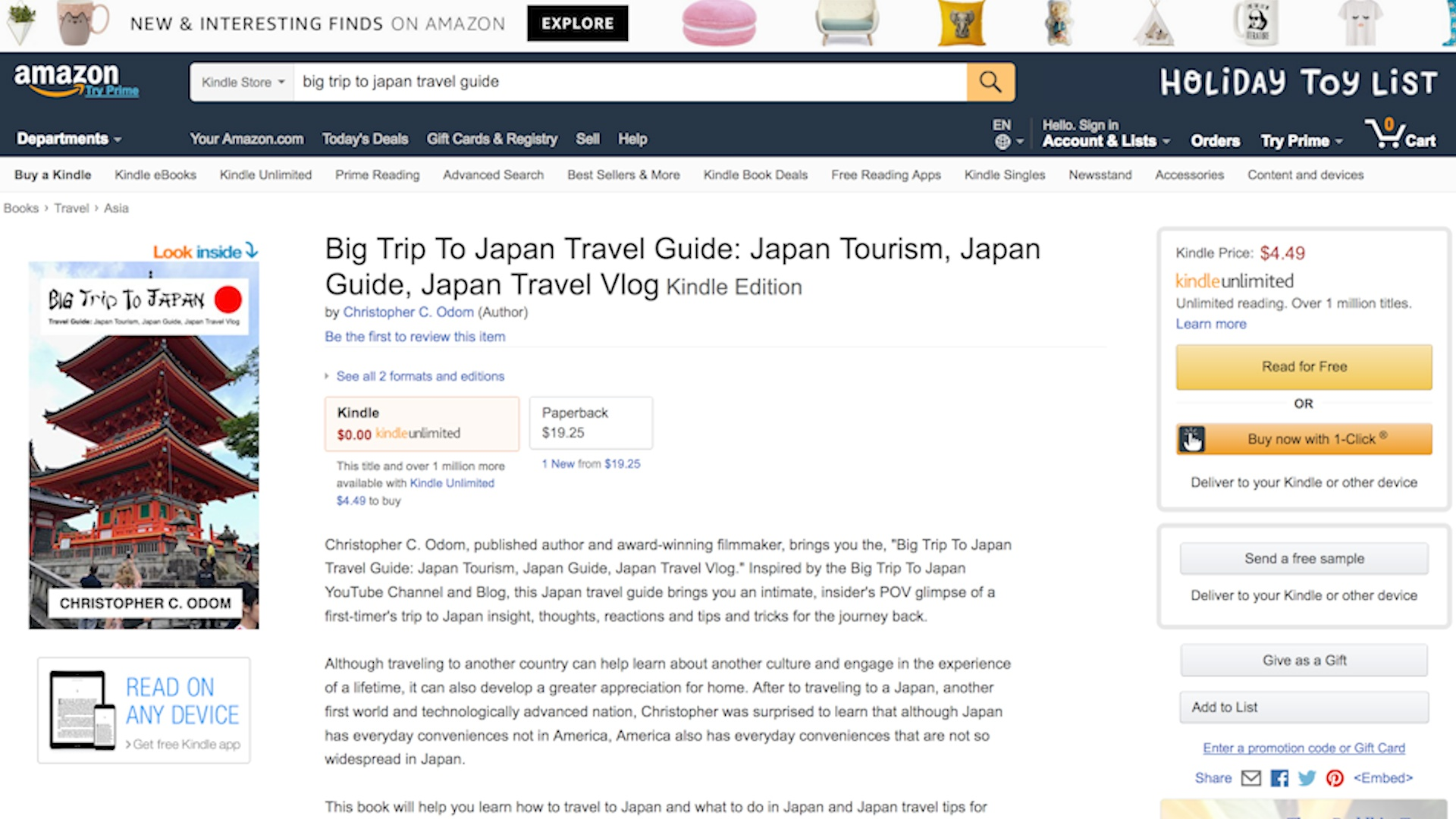 Travel Products Reviews - Japan Travel Guide Book - Tourism Guide Travel Vlog