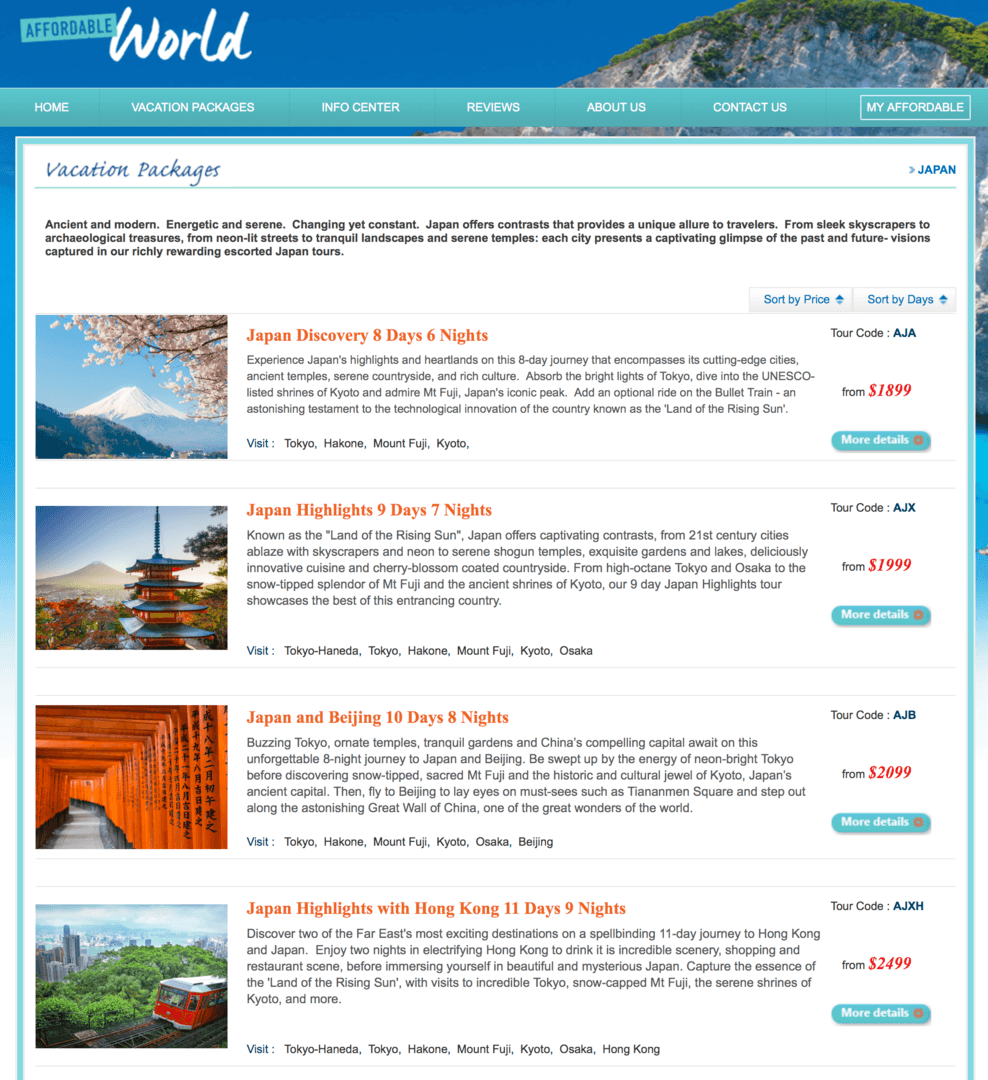 Check Out Affordable World Japan Tours Vacation Packages 🛫 🌏 🇯🇵