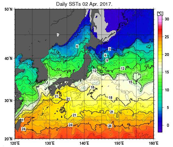 20170402 日本近郊 水温