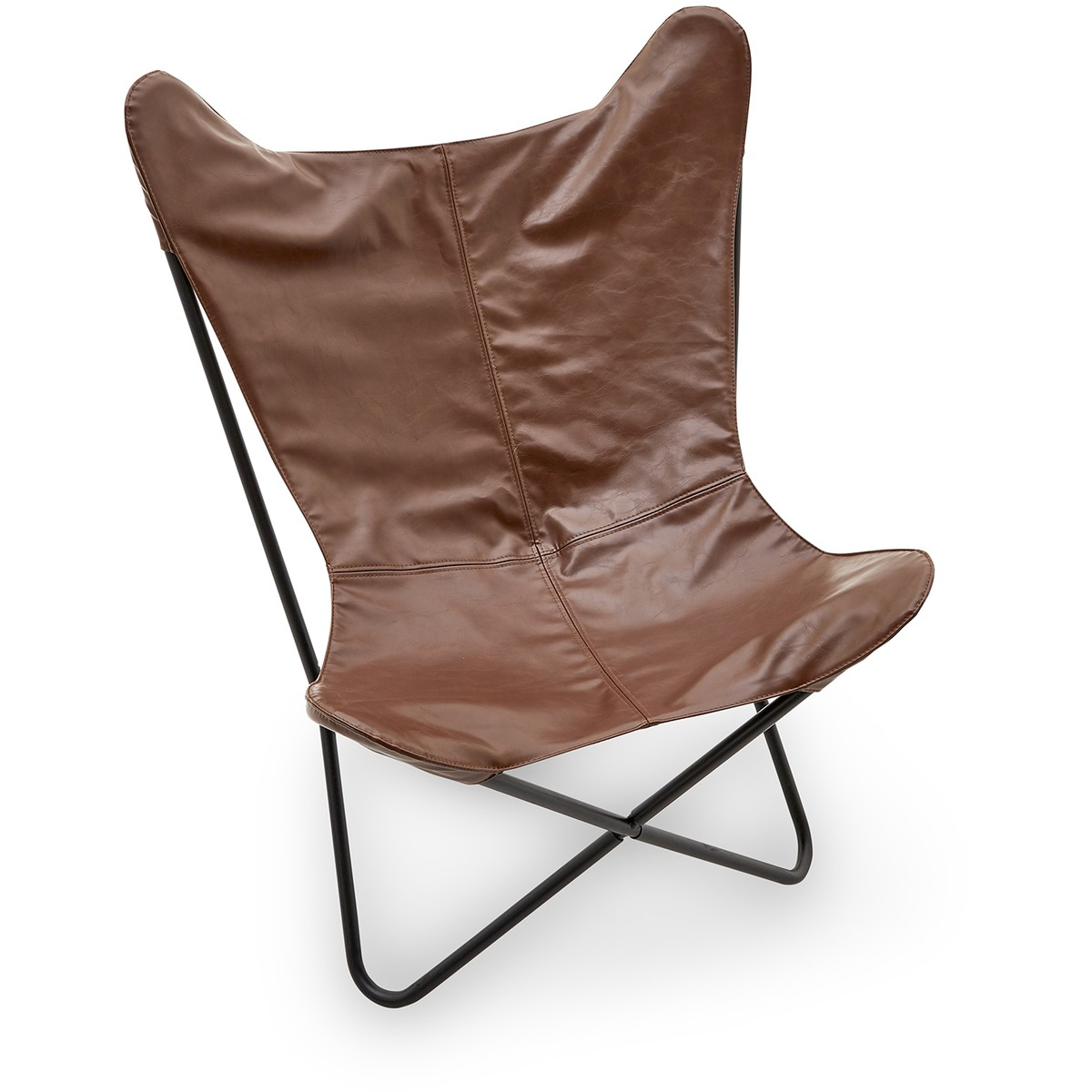 Brown Leather Butterfly Chair Kodu Pu Leather Butterfly Chair Brown Big W