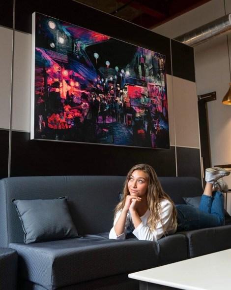Big Colorful Abstract Wall Art Huge Decor Prints