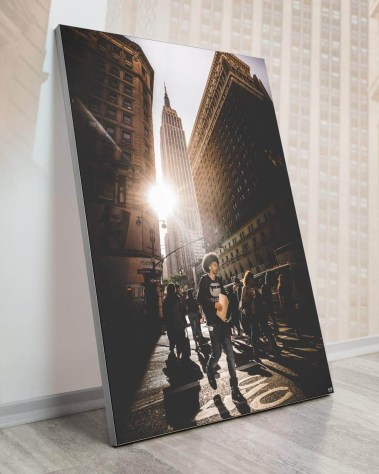 Biggest Wall Art New York Gigantic Big Massive Huge Large Largest Giant Wall Décor Backlit Fabric Home Deco Artwork Artist New York City Street Icon Portrait Scenic Photographer Nick Ford Nick40V Empire State Building City Street Sunburst People