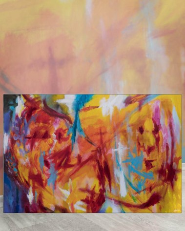 Big Wall Decor Painting Biggest Massive Largest Huge Large Giant Gigantic Art Backlit Fabric Home Deco Artwork Artist Painting Bob Lombardi Instagram Abstract Paint Bright Colorful