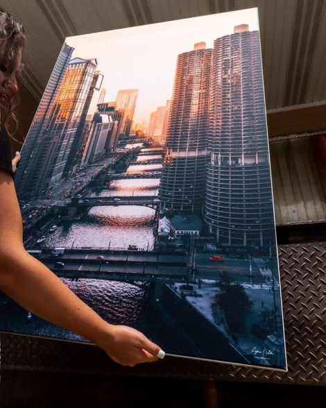 Chicago Cityscape Wall Art Huge Decor Prints