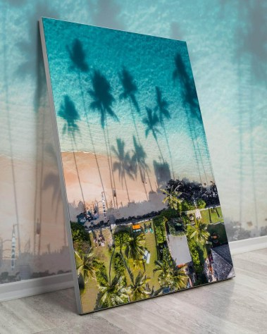 Oversized Waikki Hawaii Beach Palm Tree Wall Decor