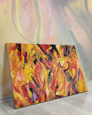 Huge Wall Art Painting Biggest Massive Largest Large Big Giant Gigantic Décor Backlit Fabric Home Deco Artwork Artist Painting Bob Lombardi Instagram Abstract Paint Bright Colorful