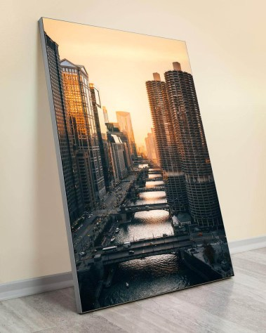 Large Home Deco Art Gigantic Big Biggest Massive Huge Largest Giant Wall Décor Art Backlit Fabric Home Deco Artwork Artist landscape nature Scenic Photographer Ryan Ditch chicago views