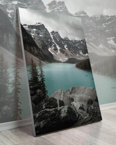 Gigantic Largest Giant Huge Large Big Biggest Massive Wall Décor Art Backlit Fabric Home Deco Artwork Artist Devon Loerop Landscape Scenic Photography Instagram Trees Water Rocks Lake Mountain