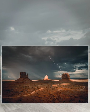 Huge Desert Wall Art Huge Decor Large Big Biggest Massive Largest Giant Gigantic Wall Décor Art Backlit Fabric Home Deco Artwork Artist Andy Vu Andyhvu Landscape Scenic Photography Instagram Desert Canyon Valley Thunderbolt Rock Utah