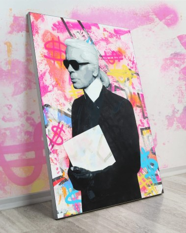 Oversized Wall Art Pop Decor Gigantic Big Biggest Massive Huge Large Largest Giant Wall Décor Art Backlit Fabric Home Deco Artwork Monaco Artist Lukas Avalon lukasavalon karl lagerfeld