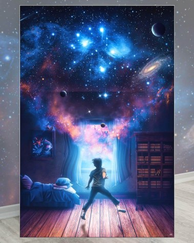 Biggest Wall Decor Prints Surreal Art Big Biggest Huge Large Massive Largest Giant Gigantic Wall Décor Art Backlit Fabric Home Deco Artwork Artist Marco Zagara Surreal Digital Mystic Futuristic Instagram Surrealism Photoshop Digital