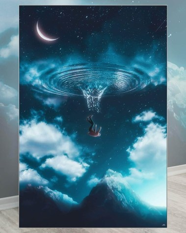 Huge Wall Decor Prints Surreal Art Big Biggest Huge Large Massive Largest Giant Gigantic Wall Décor Art Backlit Fabric Home Deco Artwork Artist Marco Zagara Surreal Digital Mystic Futuristic Instagram Surrealism Photoshop Digital