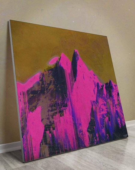 Largest Wall Decor Abstract Prints Art Decor Big Biggest Huge Large Massive Largest Giant Gigantic Wall Décor Art Backlit Fabric Home Deco Artwork Artist Jamison Gish Surreal Digital Mystic Futuristic Instagram Mountain Color Colorful