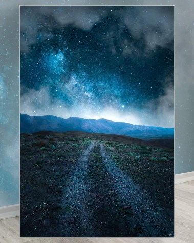 Oversized Dark Stary Path At Night California Wall Decor