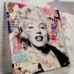 Modern Wall Decor Marilyn Monroe Pop Art Celebrity Gigantic Big Biggest Massive Huge Large Largest Giant Wall Décor Art Backlit Fabric Home Deco Artwork Michiel Folkers